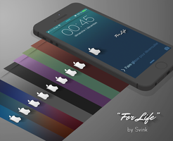 Wallpapers iOS7 LS/SB : For Life by Svink77