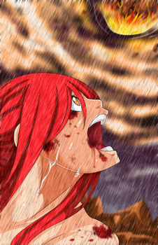 Erza vs Eileen Fairy Tail 518 by LaxusDreyarDs