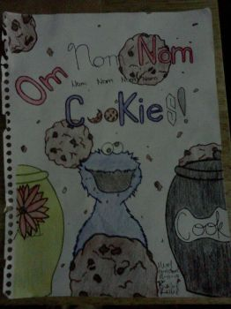Cookie Monster says~ OM NOM NOM COOKIESSS!!! by Sionnacha