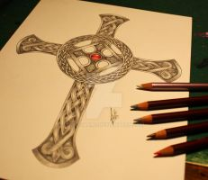Celtic Cross by CeltiaArt