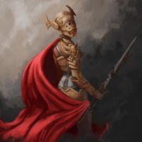 Gold Knight by Di-Dorval