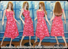 Valentines PinUp Dress by RedheadThePirate