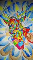 Psychedelic Deer by Spite-Feathers