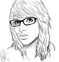 Sketch - woman with glasses by DRPauloR