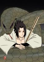 Sasuke And The snake by kibschan