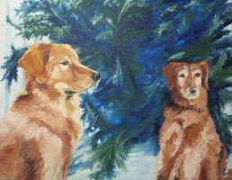 Golden Dogs by Tridgeon