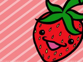 Strawberry Wallpaper by captain-farand