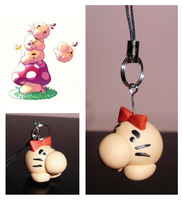 EarthBound Mother Mr. Saturn Cellphone Charm by UniqueTreats