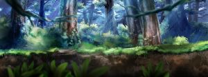 Forest background by Abishai
