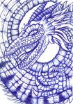 Blue Biro Dragon by playa271