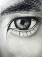 Charcoal drawing of Eye by Milkys