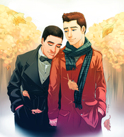 Commission: Klaine Fall by Afterlaughs