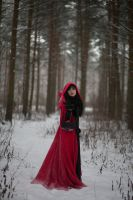 Red Riding Hood 3 - female stock by Dea-Vesta