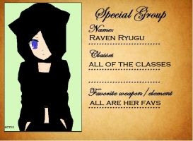 New SS Student Sheet: Raven by poisonraven5