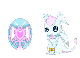 Jewelpet Bluey the feathered dragon by HeroHeart001