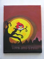 Angry Birds Seasons painting by Coolhand-Locke