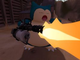 Heavy Weapons Snorlax by PrawnBoy101