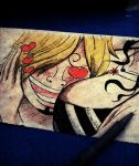 Sanji's Paradise - Ink Doodle by Musiriam