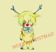 Rudolph Grey - christmasART by kamon159
