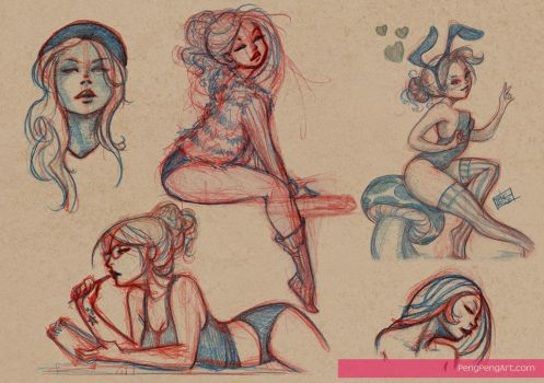 lady sketches 4.2.13 by Peng-Peng