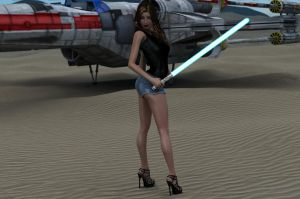 Jedi Knight MissLaurelle (2 of 2) by blinded-dinosaur