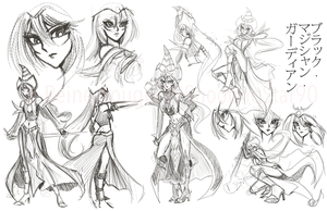 Magical Guardian concept sketches by ShootingStar03