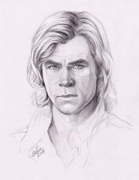 Chris Hemsworth as James Hunt by DafnaWinchester
