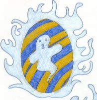 Ravenclaw ghost Egg by angelcollina