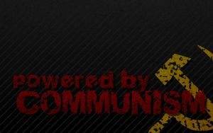 Powered by Communism desktop by trisreed