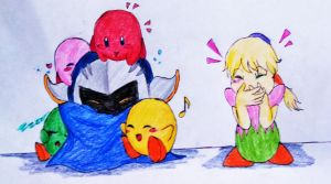 Kids Love Meta Knight-Color by DreamPuppeteer