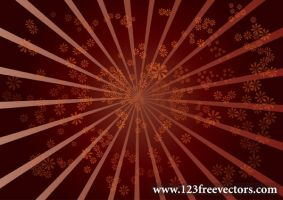 Star Burst Flower Background by 123freevectors