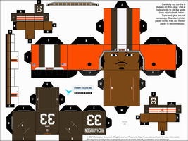 Trent Richardson Browns Cubee by etchings13