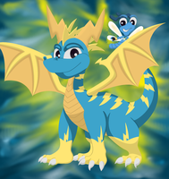 StaticTheDragon And ShockTheDragonfly-My Spyro FCs by Destiny-The-Hedgimon