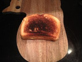 My Horrid Attempt at Grilled Cheese by AlfredFHeroTime