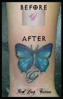 Flower Cover Up by Reddogtattoo