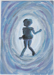 ACEO-Sailor Mercury Silhouette by NessieB