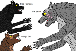 Margiro Werewolf Battle by PeteDRaptor