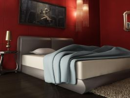 3D Bed Room Interior Part II by ArsalanAly