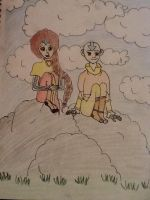Aki (oc) and Aang by littleredridinghood4