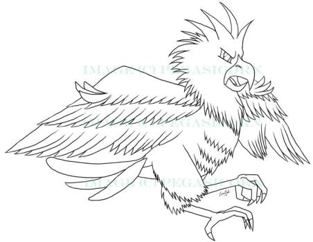 Spearow Lineart by Pegasicorn