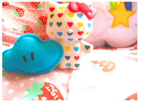 hello kitty heart cloud by kawainess
