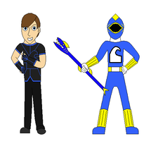 Blue Elemental Ranger With Character Description by GiLaw77