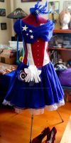 Avengers Evening Gown: Captain America by BenaeQuee