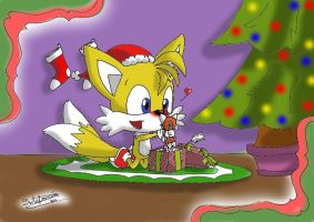 Baby Tails Christmas present by estefanoida
