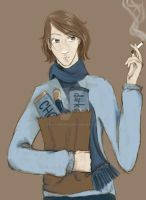 HP: Remus Lupin scribble by crushing83