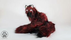 Tetrad the blood moon fox poseable artdoll OOAK! by CreaturesofNat