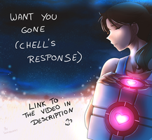 Portal 2 Want you Gone - Chell's Response VIDEO by Jacky-Bunny