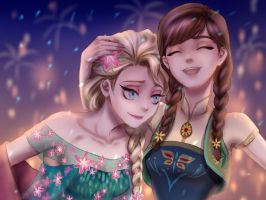 elsa and anna by drchopper7