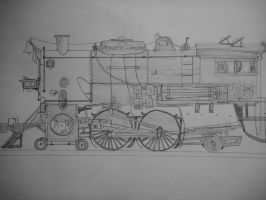 Atlantic and Pacific A-7 Class 4-4-2 by Engine97