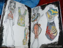 FASHION ILLUSTRATION - Double Page 2 by loveangelmusic